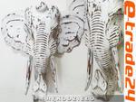 Rzeźba Maska Głowa SŁOŃ z Drewna - Rękodzieło 40x38 w sklepie internetowym e-trade24.pl