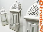 Latarnia Lampion Metalowe KREM Lampiony 18cm w sklepie internetowym e-trade24.pl