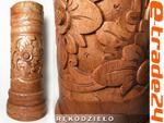 Stylowy Rzeźbiony WAZON Kwiaty z Drewna Rękodzieło 45cm w sklepie internetowym e-trade24.pl