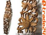 Rzeźba z Drewna Panel KWIATY Ornament 78x20cm w sklepie internetowym e-trade24.pl