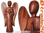 Figura Drewno RZEŹBA Abstrakcja ANIOŁ 30cm w sklepie internetowym e-trade24.pl