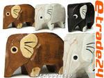 Rzeźba Figurka SŁOŃ Drewno Komplet Słonie 3 Kolory w sklepie internetowym e-trade24.pl