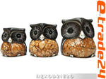 Figurki Rzeźby Drewno SOWA komplet 3 Sowy Rękodzieło w sklepie internetowym e-trade24.pl
