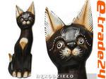 KOT Brąz Rzeźba Figurka Drewniana Koty 25cm Rękodzieło w sklepie internetowym e-trade24.pl
