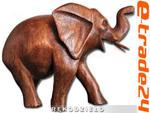 Rzeźba Figurka SŁOŃ Drewno Suar Rękodzieło 9,5x6cm w sklepie internetowym e-trade24.pl