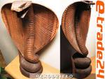 Rzeźba drewno KOBRA 50cm Rękodzieło Indonezja w sklepie internetowym e-trade24.pl