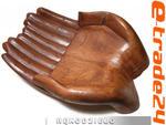 Efektowna Rzeźba z Drewna Suar Dłoń RĘKA Patera 30x20cm w sklepie internetowym e-trade24.pl