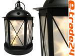 Latarnia Lampion Metalowy CZARNY Lampiony LED 5pkt w sklepie internetowym e-trade24.pl