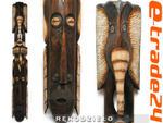 Rzeźba Maska Drewno TUBYLEC SŁOŃ 100cm Rękodzieło w sklepie internetowym e-trade24.pl