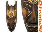 Rzeźba Maska Etniczna Drewno TUBYLEC Orient 20cm w sklepie internetowym e-trade24.pl