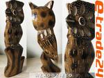 Rzeźba Figurka Drewniana SOWA Rękodzieło 18cm w sklepie internetowym e-trade24.pl
