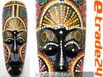 Kolorowa Rzeźba Maska Drewno - Rękodzieło 30cm w sklepie internetowym e-trade24.pl