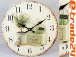 Zegar 33cm - Zegary LAWENDA do Kuchni, Salonu w sklepie internetowym e-trade24.pl
