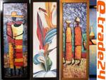 OBRAZ Rama Drewno Obrazy Wzory - Abstrakcja Afryka w sklepie internetowym e-trade24.pl