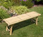 Ławka ogrodowa z bambusa Ławeczka bambusowa do ogrodu HomeStyle4U w sklepie internetowym TwojPasaz.pl