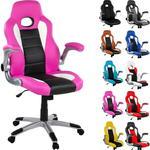 Fotel kubełkowy różowo-czarny, RACEMASTER w sklepie internetowym TwojPasaz.pl