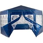 Pawilon ogrodowy - altana namiot handlowy PE - sześciokątny niebieski w sklepie internetowym TwojPasaz.pl