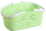 Plastikowy koszyk z uchwytami zielony 24x15,7x12cm w sklepie internetowym TwojPasaz.pl
