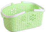 Plastikowy koszyk z uchwytami zielony 24x15,7x12cm Tadar w sklepie internetowym TwojPasaz.pl