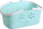 Koszyk z uchwytami plastikowy 24x15,7x12cm niebieski Tadar w sklepie internetowym TwojPasaz.pl