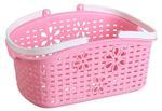 Koszyk z uchwytami plastikowy różowy 34x15,7x12cm w sklepie internetowym TwojPasaz.pl