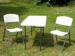 Stół i krzesła składane do ogrodu tarasu na kamping w sklepie internetowym TwojPasaz.pl