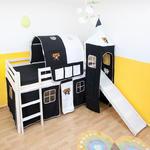 Łóżko piętrowe czarne, wieża PIRACKI ZAMEK w sklepie internetowym TwojPasaz.pl