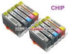 .HP364 XL tusze (10 szt z chipami, Crystal-Ink) tusze do HP Photosmart 7510, HP Photosmart 5510, HP Photosmart 5520, HP Photosmart 5524 w sklepie internetowym Kupuj-tanio.com