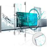 Obraz na szkle akrylowym - Turkusowa ekspresja [Glass] w sklepie internetowym Barokko.pl