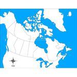 Mapa kontrolna - Kanada - pomoce Montessori w sklepie internetowym aleZabawki.co