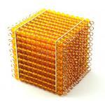 Sześcian - złote perełki (1szt.) - pomoce Montessori w sklepie internetowym aleZabawki.co