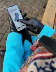 Damskie eleganckie rękawiczki skórzane do ekranów dotykowych - rękawiczki touch screen w sklepie internetowym Kalta.pl