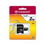 Karta pami?ci Transcend microSD 2GB + adapter do SD w sklepie internetowym Hurt.Com.pl