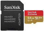 karta pami?ci SanDisk microSDXC 64GB Extreme 667x 100MB/s UHS-I U3 V30 A1 w sklepie internetowym Hurt.Com.pl