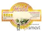 OKRAGŁE Etykiety na miód AKACJOWY Paczka 100szt - OKRAGŁE Etykiety na miód AKACJOWY Paczka 100szt w sklepie internetowym Apismart.eu