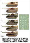 Montex K35010 # Tiger I (late) (Tamiya/Dragon/AFV Club) (1/35) w sklepie internetowym JadarHobby