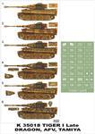 Montex K35018 # Tiger I Late (Dragon/Tamiya/AFV Club) (1/35) w sklepie internetowym JadarHobby