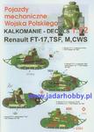 S-PRO 7202 - Renault FT-17, TSF, M, CWS. Pojazdy mechaniczne Wojska Polskiego (1/72) w sklepie internetowym JadarHobby