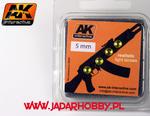AK Interactive AK220 Szkła świateł o średnicy 5mm, bursztynowe w sklepie internetowym JadarHobby
