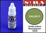 Sira Hobby GE25 Resedagreen RAL6011 (Farba akrylowa 12ml) w sklepie internetowym JadarHobby