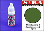 Sira Hobby RU12 Russian Green 2 (Farba akrylowa 12ml) w sklepie internetowym JadarHobby
