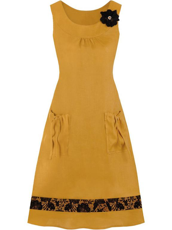 6dc0b9298e Lniana sukienka z - najtańsze sklepy internetowe