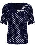 Granatowa bluzka w grochy Sonia IV. - Sonia IV w sklepie internetowym ModBiS.pl