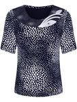 Granatowa bluzka w geometryczny wzór Sonia III. - Sonia III w sklepie internetowym ModBiS.pl
