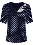 Granatowa bluzka w grochy Sonia II. - Sonia II w sklepie internetowym ModBiS.pl