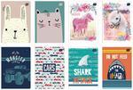 Zeszyt A5 16 kartek w kratkę Interdruk w sklepie internetowym Biurowe-szkolne.pl