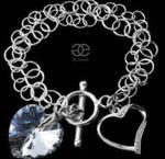 SWAROVSKI piękna bransoletka COMET SERCE SREBRO w sklepie internetowym ARANDE