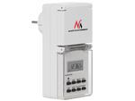 Timer cyfrowy zewnętrzny Maclean Energy MCE08 10 programów funkcja losowa 3600 W max 156 programów w sklepie internetowym CentrumElektroniki.pl
