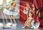 Puzzle 120 el. Ballet Class Castorland w sklepie internetowym Bawisklep.pl