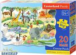 Puzzle 20 el. MAXI Contyour At the Zoo Castorland w sklepie internetowym Bawisklep.pl